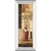 """Asian Flower I"" Mirror Framed Print Wall Art"