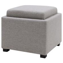 Cameron Square Fabric Storage Ottoman w/ tray, Cardiff Gray