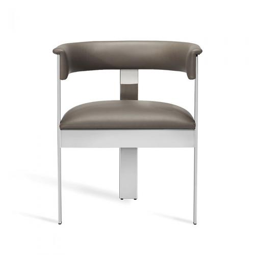 Darcy Dining Chair - Grey/ Nickel