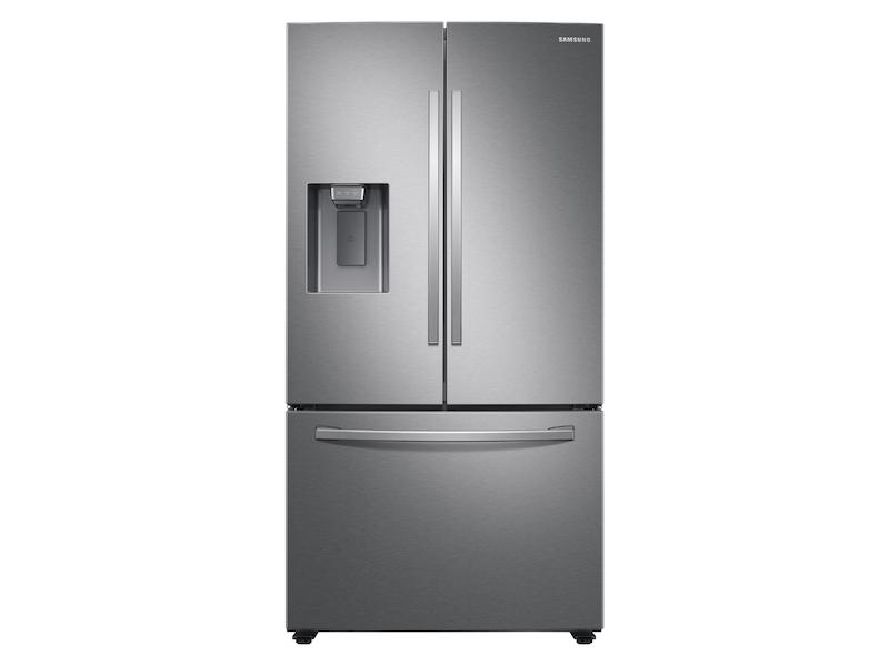Samsung27 Cu. Ft. Large Capacity 3-Door French Door Refrigerator With External Water & Ice Dispenser In Stainless Steel
