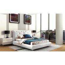 Modrest B811 Modern White Bonded Leather Bed