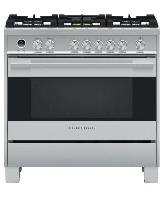 "Dual Fuel Range, 36"", 5 Burners, Self-cleaning"