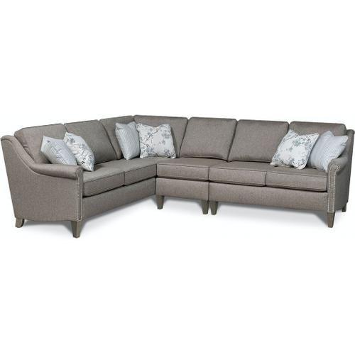 England Furniture - 9T00N-Sect Ella Sectional with Nails