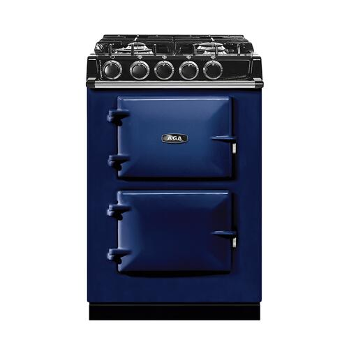 "AGA City 24"" Electric/Natural Gas Dark Blue with Stainless Steel trim"