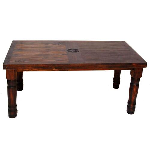 Dark 7' Table W/ Star On Top