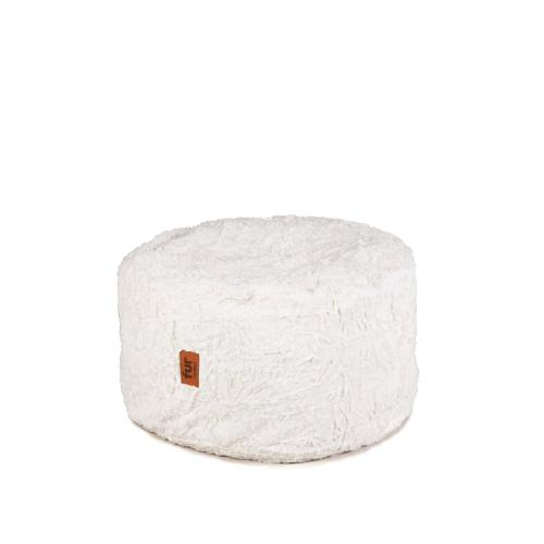 Footstool - Faux Fur - White