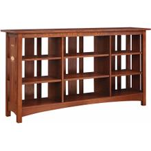 View Product - Slatted-Back Bookcase with Six Shelves