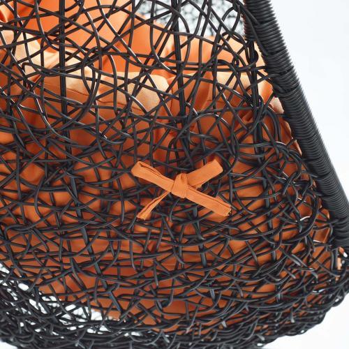 Encase Swing Outdoor Patio Lounge Chair in Orange