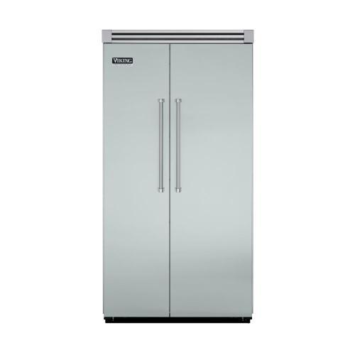 "Viking - Sea Glass 42"" Side-by-Side Refrigerator/Freezer - VISB (Integrated Installation)"