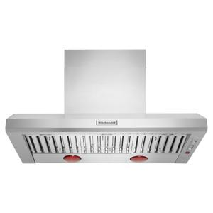 KitchenAid48'' 585-1170 CFM Motor Class Commercial-Style Wall-Mount Canopy Range Hood - Stainless Steel