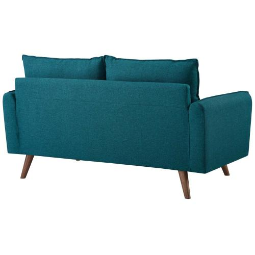 Modway - Revive Upholstered Fabric Loveseat in Teal