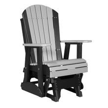 See Details - 2 Adirondack Glider Chair, Dove-gray-black