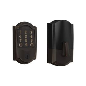 Schlage Encode Smart WiFi Deadbolt with Camelot Trim (for Works with Ring Video Doorbells and Cameras) - Aged Bronze