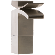 Quarto Medium Vessel Lav Faucet Front Flow Brushed Nickel
