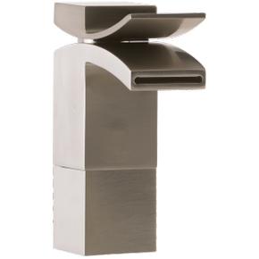 Quarto Medium Vessel Lav Faucet Front Flow Brushed Nickel