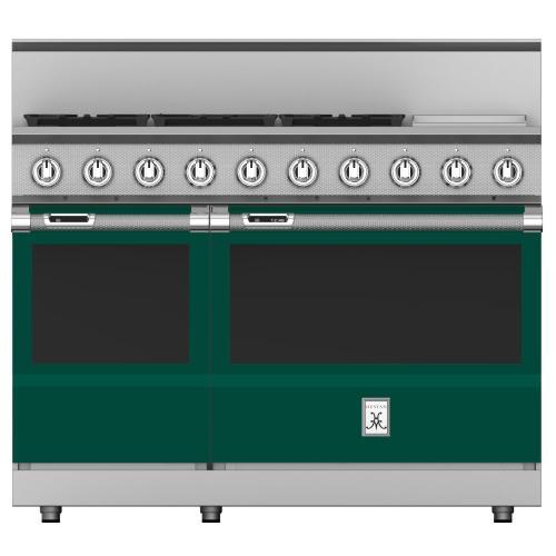 "48"" 5-Burner Dual Fuel Range with 12"" Griddle - KRD Series - Grove"