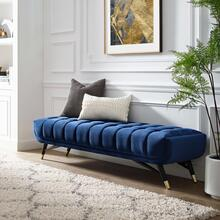 Adept Performance Velvet Bench in Midnight Blue