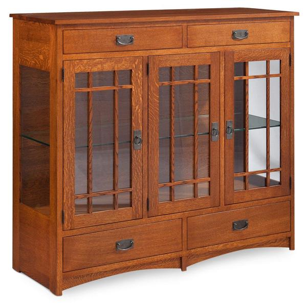 See Details - Prairie Mission Dining Cabinet, 2-Door / Glass Doors and Ends