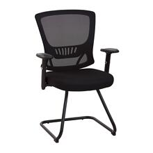 Mesh Back and Seat Black Sled Base Guest Chair
