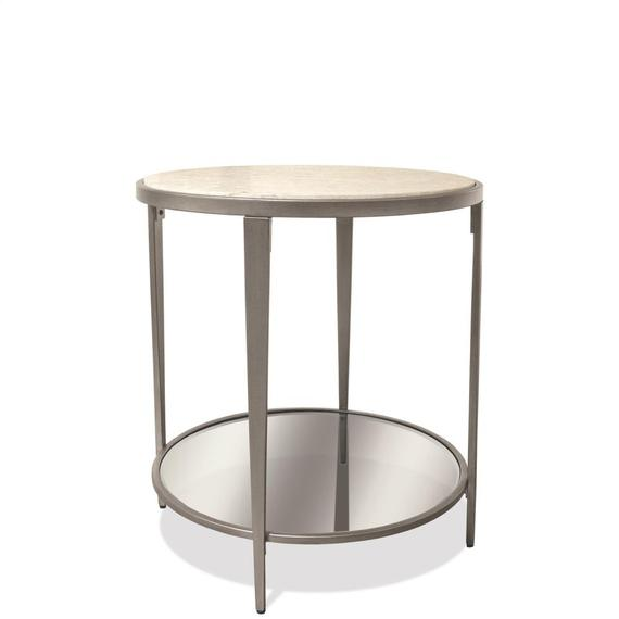 Riverside - Wilshire - Round Side Table - White Sands Finish
