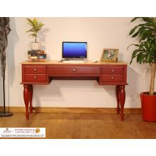 See Details - Two-tone Antique Desk w/Red Rubbed Finish