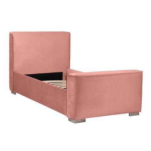 Madison Dusty Rose Velvet Bed in Twin
