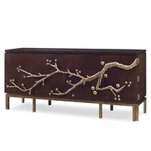 Cherry Blossom Media Cabinet - Walnut