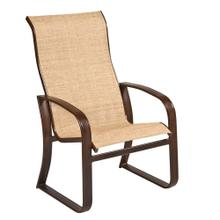 Cayman Isle Sling High-Back Dining Armchair