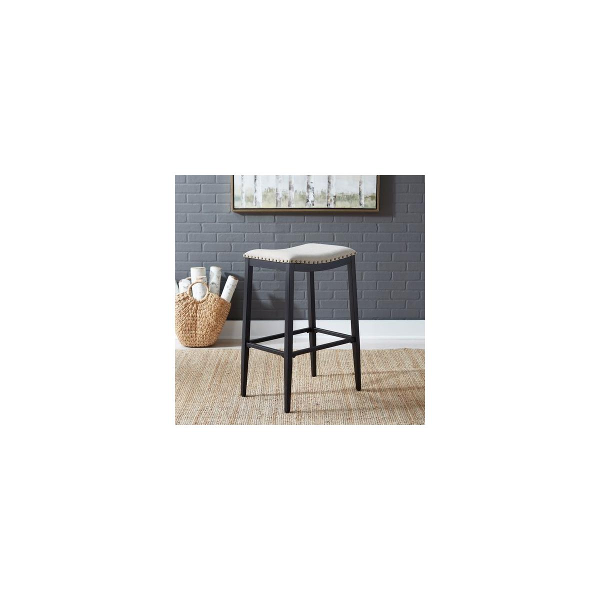 Backless Uph Barstool- Black