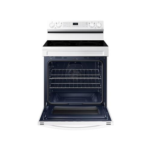 6.3 cu. ft. Smart Freestanding Electric Range with No-Preheat Air Fry & Convection in White