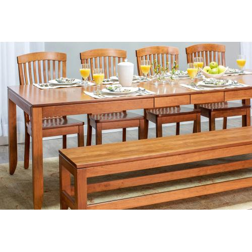 """Simply Amish - Justine Leg Table, 38'w x 48'l (Max 2 Leaves - Butterfly Leaf Not Available) / Two 12"""" Leaves"""