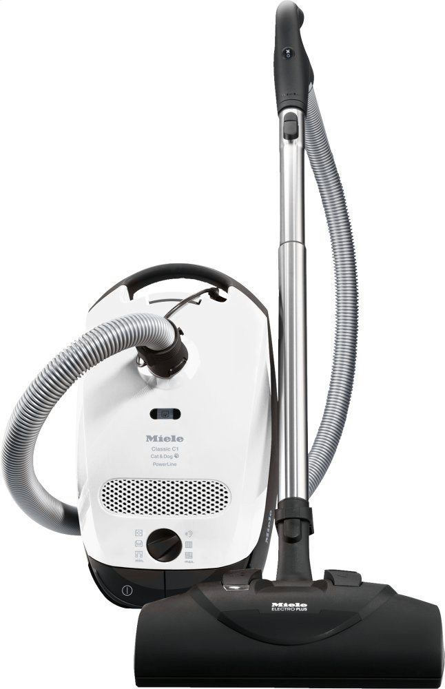 MieleClassic C1 Cat & Dog Powerline - Sbbn0 - Canister Vacuum Cleaners With Electrobrush For Thorough Cleaning Of Heavy-Duty Carpeting.