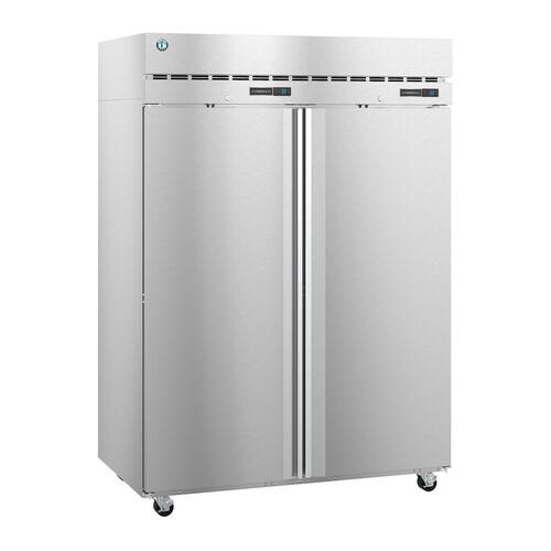Hoshizaki - DT2A-FS, Refrigerator and Freezer, Two Section Dual Temp Upright, Full Stainless Doors with Lock