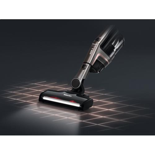 Cordless stick vacuum cleaner With additional Li-ion battery and charger cradle for maximum running times.