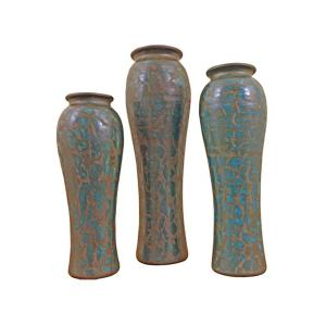 3PC Turquoise Arabe Pots DISCONTINUED