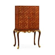 See Details - Red Chinoiserie Drinks Cabinet