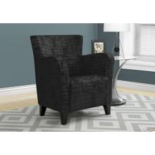 ACCENT CHAIR - BLACK BRUSHED VELVET FABRIC
