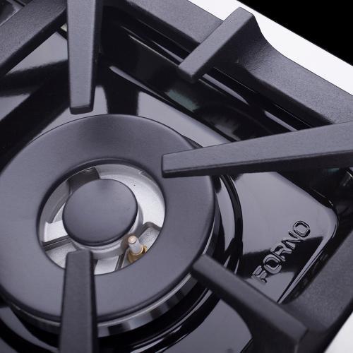 "Forno Alta Qualita FFSGS6239-48 48"" Gas Range Pro-Style Gas 8 DEFENDI Italian Burners 107,000 BTU All 304 Stainless Steel"