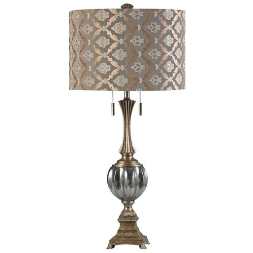 Twin Pull Chain Hardback Designer Shade, Twin Pull Chain Table Lamp