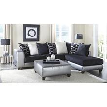 Metro Silver/Black Sectional LF Sofa