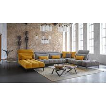 David Ferrari Display Italian Modern Grey & Yellow Fabric Modular Sectional Sofa