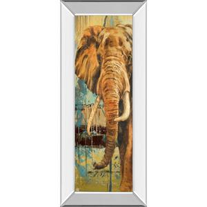 """""""New Safari On Teal Il"""" By Patricia Pinto Mirror Framed Print Wall Art"""