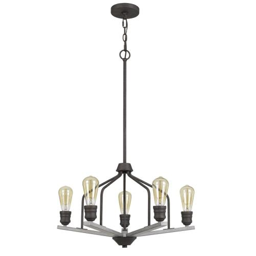 Corning Metal Chandelier (Edison Bulbs Not included)