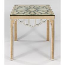 """View Product - End Table with Glass 26x26x26.5"""""""