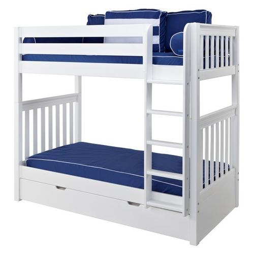 Mattress Cover (Twin) : Blue/White