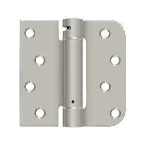 "4"" x 4"" x 5/8"" x SQ Spring Hinge, UL Listed - Brushed Nickel"