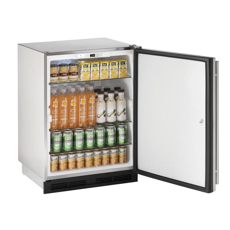 "24"" Outdoor Refrigerator Stainless Solid (Lock) Field Reversible"