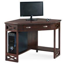 See Details - Chocolate Oak Corner Computer/Writing Desk #81430