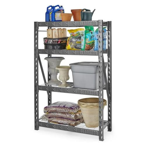 """Gallery - 48"""" Wide Heavy Duty Rack with Four 18"""" Deep Shelves"""