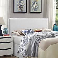 Phoebe Queen Upholstered Vinyl Headboard in White